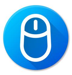 Computer mouse blue circle icon vector
