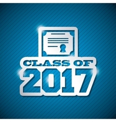 congratulations class of 2017 card vector image