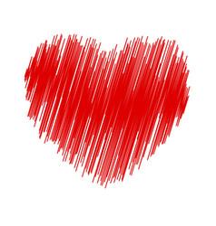 Crayon valentine32 vector