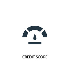 Credit score icon simple element vector
