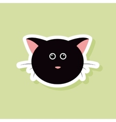 Cute cat Face vector image