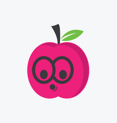 cute organic fruit character vector image