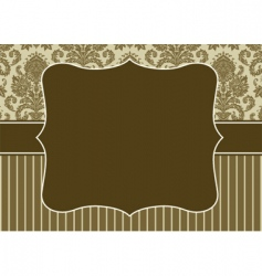 Damask pattern and border vector