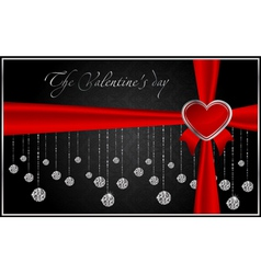diamond greeting card vector image vector image