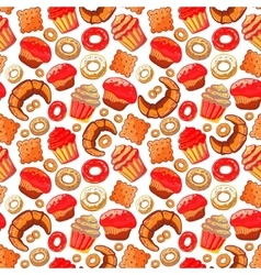 Doodle BakeryCakes and dessertpastries vector