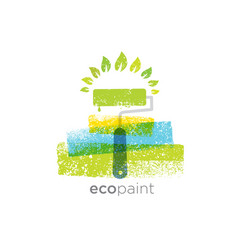 eco paint grunge brush creative rough vector image