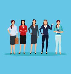 executive women cartoon vector image