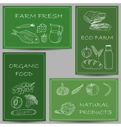 farm banners doodles vector image