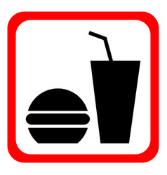 Fast food icon on a white background vector