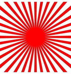 Flat Red sun vector image