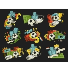 Football abstract vector image
