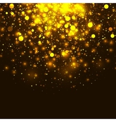 Gold glowing light glitter background vector