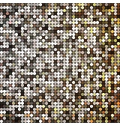 Golden abstract retro vintage pixel mosaic vector
