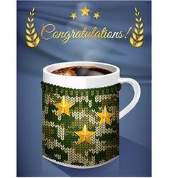Greeting card mug vector
