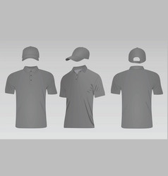 Grey baseball cap and polo t shirt vector