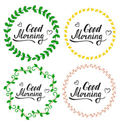 hand written lettering good morning vector image