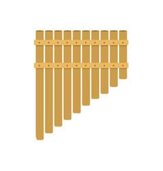 handmade music folk instrument panpipe flute vector image