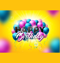 Happy birthday design with balloon vector
