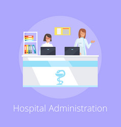 Hospital administration on vector