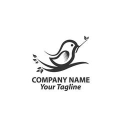 humming bird logo isolated on white background vector image
