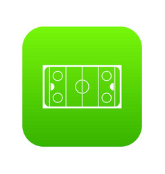 Ice hockey rink icon digital green vector