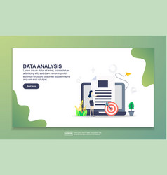 landing page template data analysis modern vector image