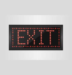 Led lights exit sign vector