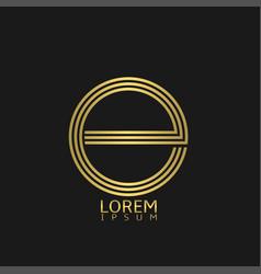 Letter e emblem vector