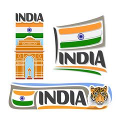Logo for india vector