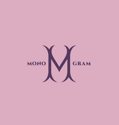 Luxury monogram m vector