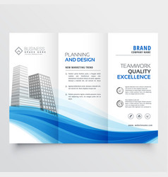 modern trifold brochure design layout template vector image