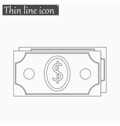 Money icon Style thin line vector image