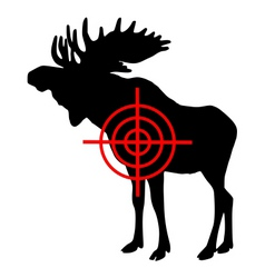 moose crosshair vector image