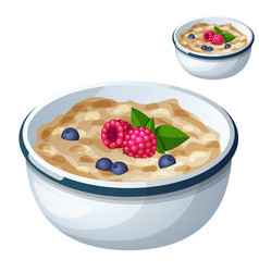 oatmeal isolated on white background cartoon vector image