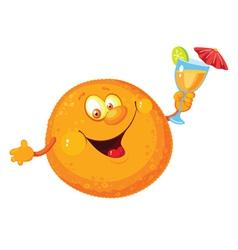 Orange cartoon vector