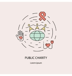 Pablic Charity and donation vector