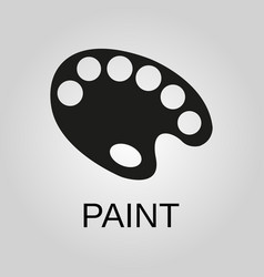 paint brush icon solid logo vector image