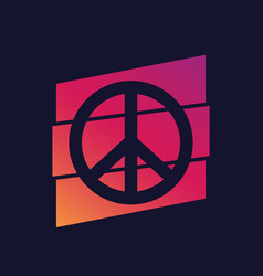 peace sign poster vector image