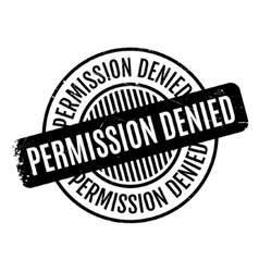 Permission Denied rubber stamp vector
