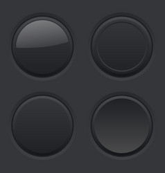 Round buttons normal pushed active hover vector
