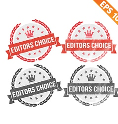Rubber stamp editor choice - - EPS10 vector image