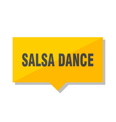 salsa dance price tag vector image