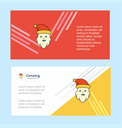santa clause abstract corporate business banner vector image
