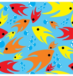 Seamless Cartoon Fishes vector image