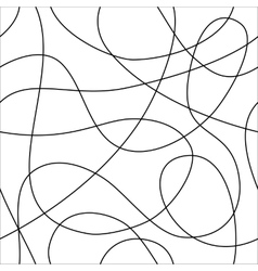 Seamless pattern of loops vector image
