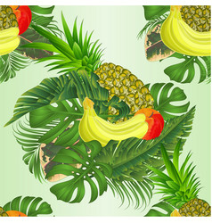 seamless texture tropical fruit with tropical vector image