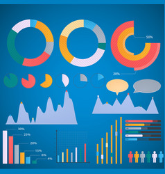 set elements infographic pie charts bar chart vector image