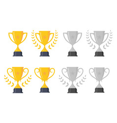 set trophy vector image