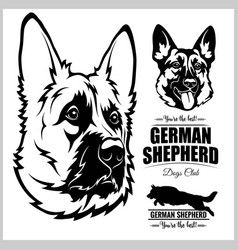 Shepherd dog portrait - on vector