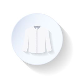 Shirt flat icon vector image